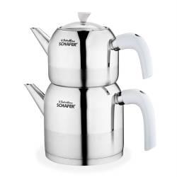 Schafer Ada Small Size Pearl White Teapot Set