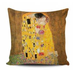 Klimt Kiss Decorative Pillow