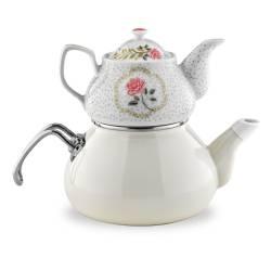 Schafer Tee Morgen Enamel TeaPot Set beige