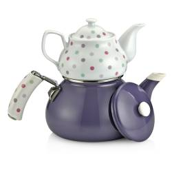 Schafer Teerose Porcelain Purple Teapot Set