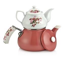 Schafer Teerose Porcelain Pink Teapot Set