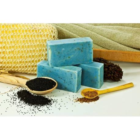 Eucalyptus & Poppy Seed Soap Effective Herbal Peeling