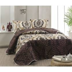 Eponj Home Quilted Bedspread Set Double Ceremonies Coffee