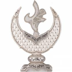 Name of Nebi Decorative Crescent Trinket Nacre Silver