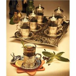 Ottoman silver color Tea Set. for 6 people