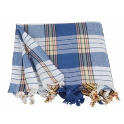 Traditional Peshtemal Classic - Hammam Style - Blue