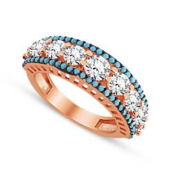 925 Sterling Silver Nine Stone Rings