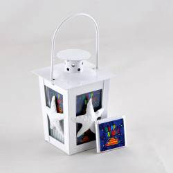 Small White Lantern in Birthday Chocolate