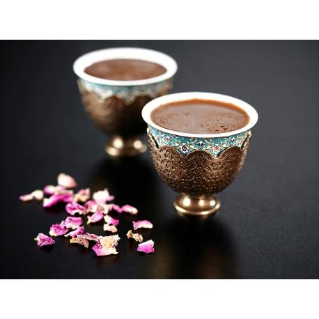 Arzum Okka Ismail Acar Double Turkish Coffee Cup Set WHITE