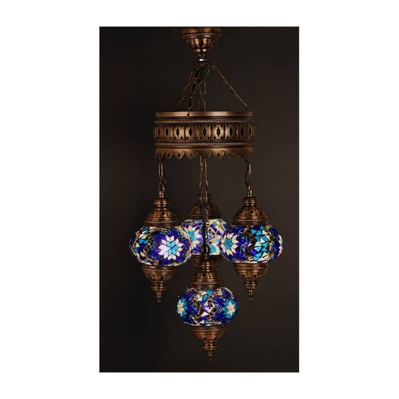 Chandelier Glass Mosaic Lamp