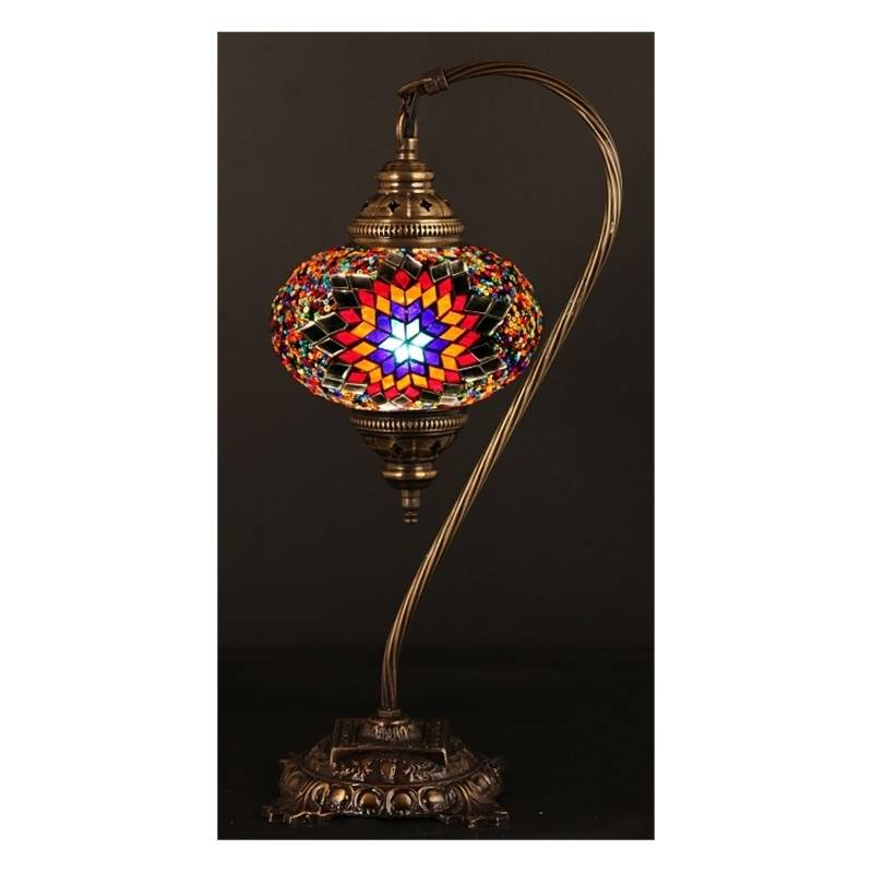 Glass Mosaic Table Top Lamp Model8