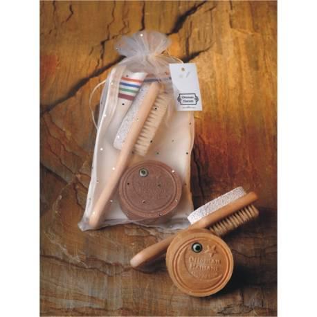 Soap , Pouch , Heel Stone ,Brush Set