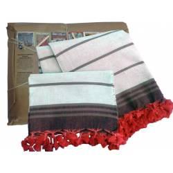 Hand woven Peshtemal Peshkir Set Special Series Beige