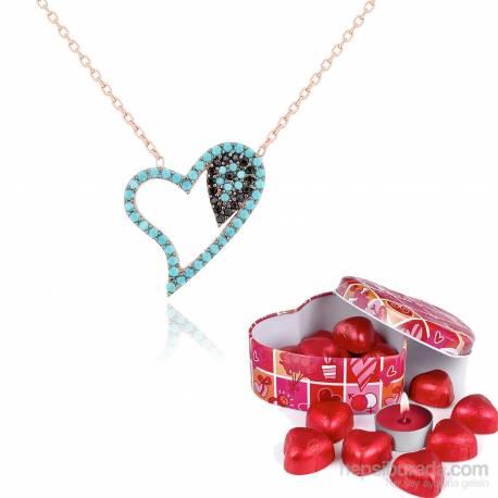 Chavin Turquoise Stony Silver Pendant Evil Eye Heart Inside