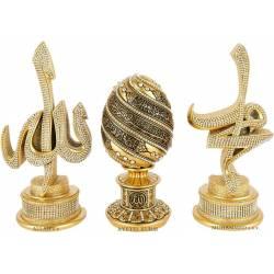 Allah Muhammad Swarovski crystal trinket set