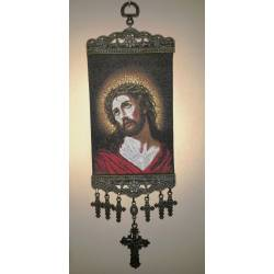 Mini Woven Carpet Virgin Mary, Jesus, wall decorations