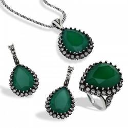 Handmade Hurrem Sultan Roxelana Silver Jewelry Set