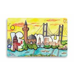 Silhouette istanbul Magnet