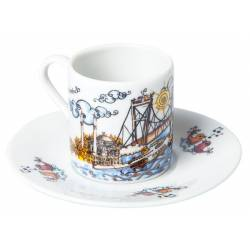 Turkish Coffee Cup Bosphorus Bridge