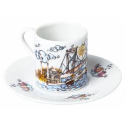 Turkish Coffee Cup Bosphorus Bridge
