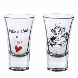 Double Shot Glasses Love The crash