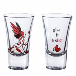 "Double Shot Glasses ""give a chance"""