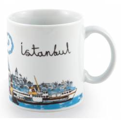 Istanbul Maiden Tower Classic Porcelain Coffee Cup