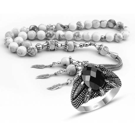 Special Whip Havlit Stones Rosary, and the Silver Eagle Claw Ring combination