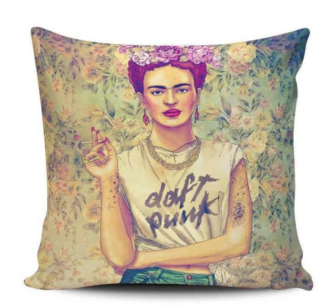 Kahlo Daft Punk Pillow