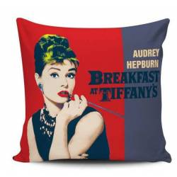 Audrey Hepburn Retro Decorative Pillow