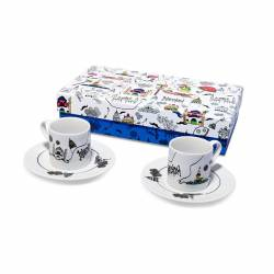 Katibim Patterned Turkish Coffee Cup Set