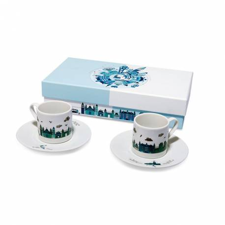 Panoramic Istanbul Turkish Coffee Cup Set