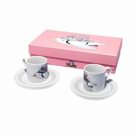 Istanbul Seagull Turkish Coffee Cup Set