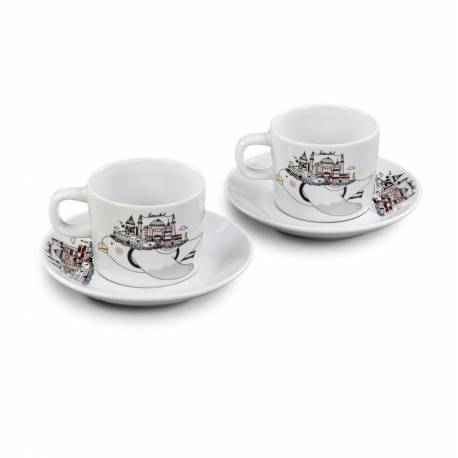 Istanbul Seagull Porcelain Turkish Coffee Cup Set
