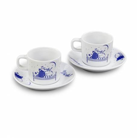 Istanbul Cats Porcelain Turkish Coffee Cup Set