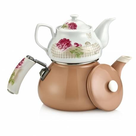 Schafer Teerose Porcelain Tea Pot Set