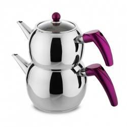 Karaca Violet Steel Teapot Set