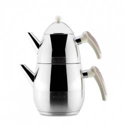 Karaca Daphne Steel Teapot Set Grey