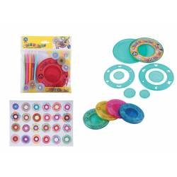 Spirograph Set and 5 color pencils