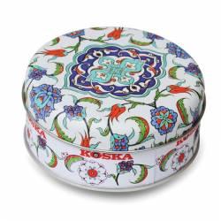 Tile patterned metal boxed Double Pistachio Turkish Delight
