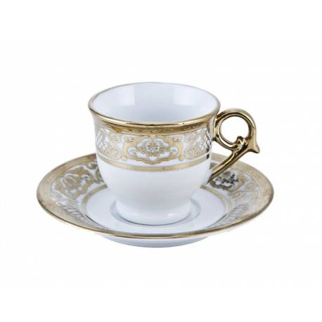Biev Gold Coffee Cups Set for 6 Persons