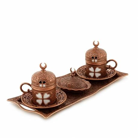 Clover and Crescent Copper Authentic Tea Set