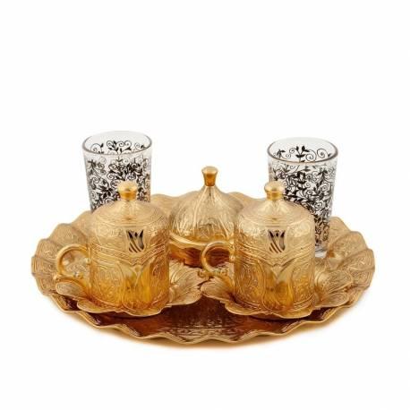 Sultan Lalezar Authentic Coffee Cup Set Gold
