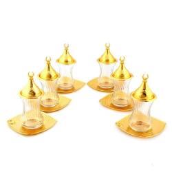 Drop Tea Set Square Golden Yellow plate
