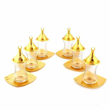 Drop Tea Set Square Golden Yellow plate