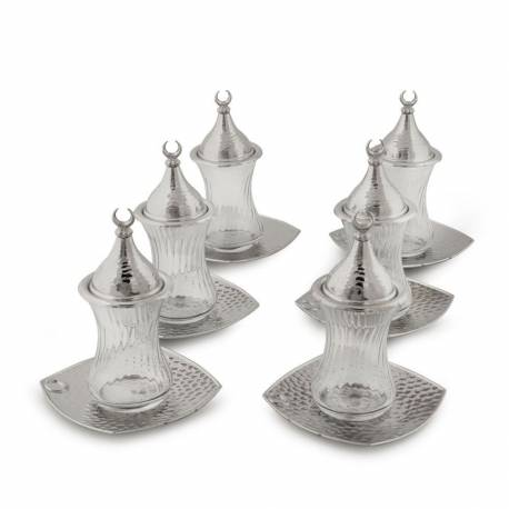 Drop Tea Set Nickel Plate Square