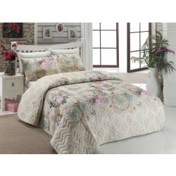 Eponj Home Quilted Bedspread Set Double Angel Beige