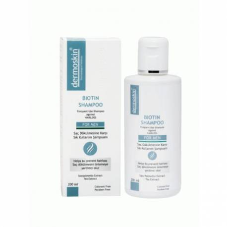 Dermoskin Biotin Solution + Biotin Shampoo 200ml Men