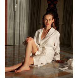 Buldan Fabric Geraniums Bathrobe