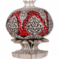 Pomegranate with red stone trinket of Abundance